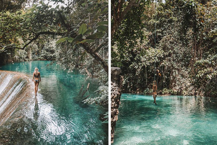 Die Kawasan Falls. © Foto: Lea Schmalz