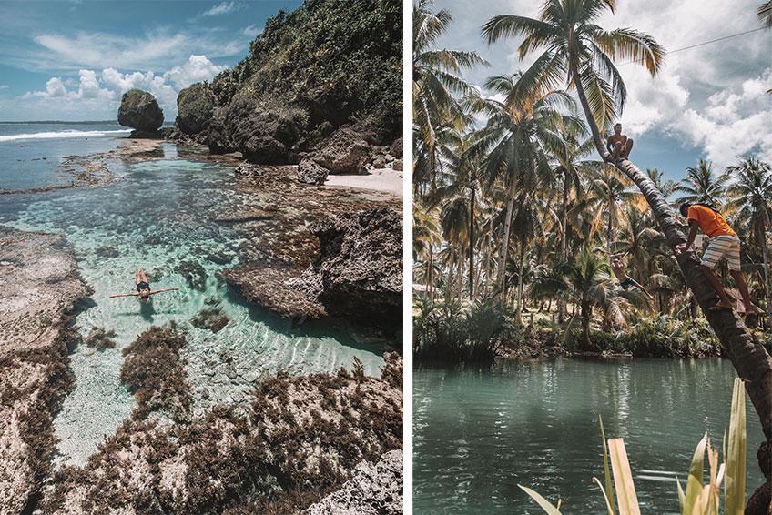 Magpungko Rock Pools und der Masasin Enchanted River. © Foto: Lea Schmalz